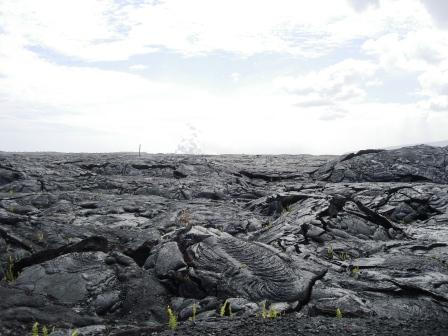 Black lava in Kalapana