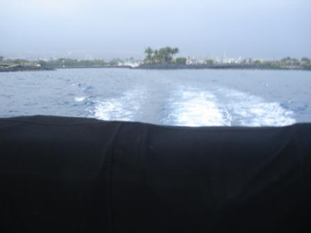 Leaving Kona harbor