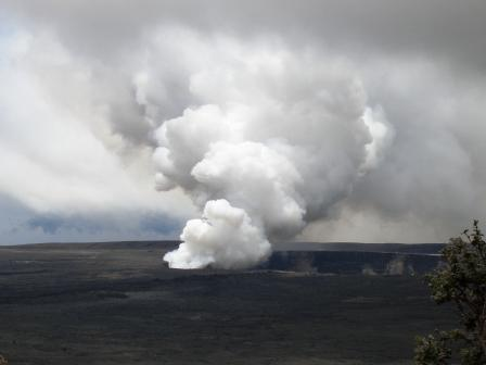Volcano venting in Volcanoes National Park