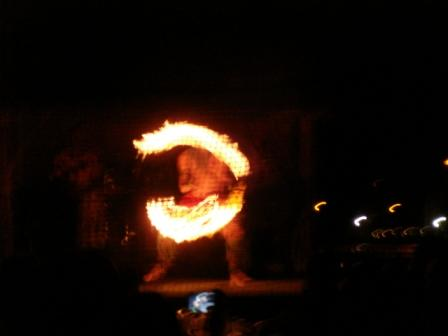 Hawaii Fire Dance at Luau
